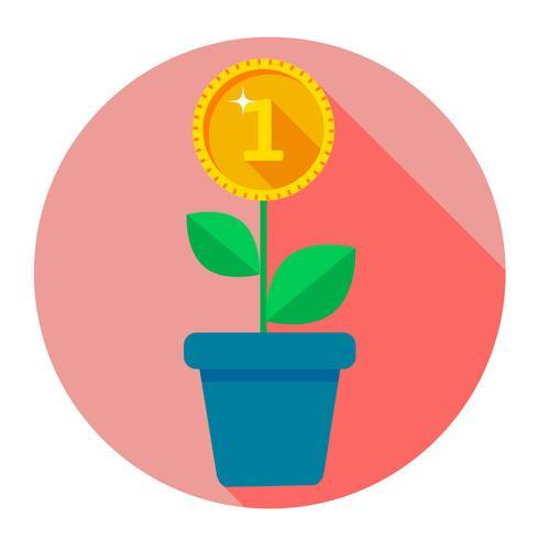 Infographie de fleurs en pots, montre la croissance vecteur
