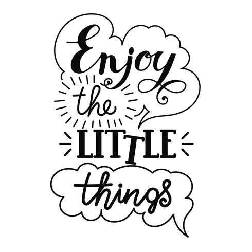 Enjoy the little things hand lettering.