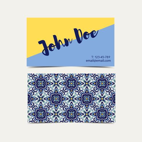Adreskaartje Portugese azulejos. vector