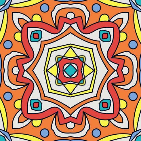 Talavera oblana mexicana de patrones sin fisuras. vector