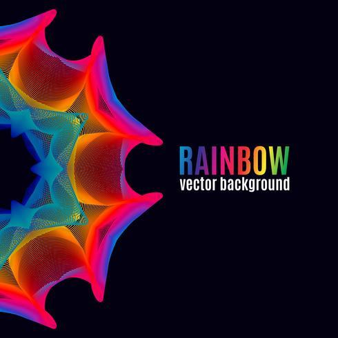 Sfondo di linee arcobaleno