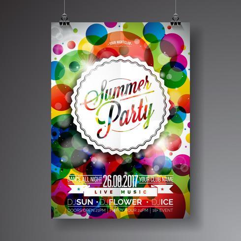 sommar party flyer vektor
