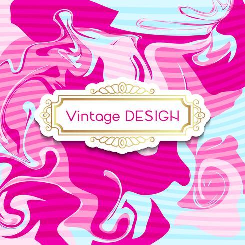 Rosa Banner mit einem schäbigen schicken Design