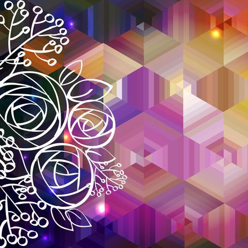 El fondo colorido abstracto del vector y subió