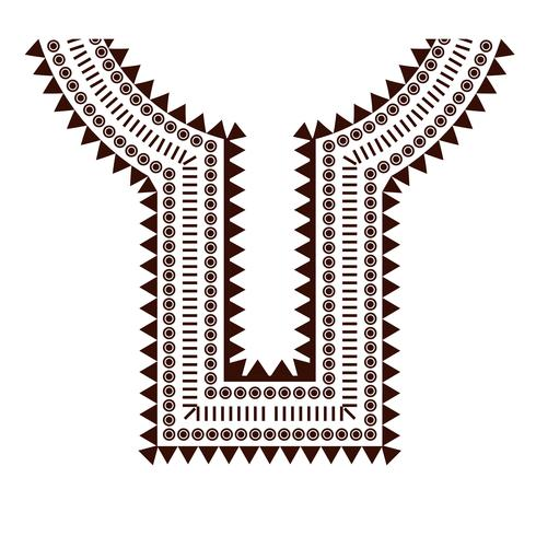 Geometrische, tribale sieraden kraag kleding. Halslijnontwerpen vector