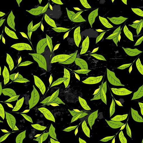 Seamless pattern with leaves in vintage style. vector
