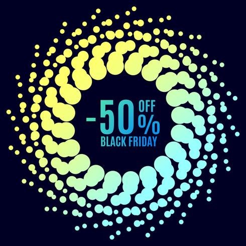 Black Friday sale. Halftone dots vector