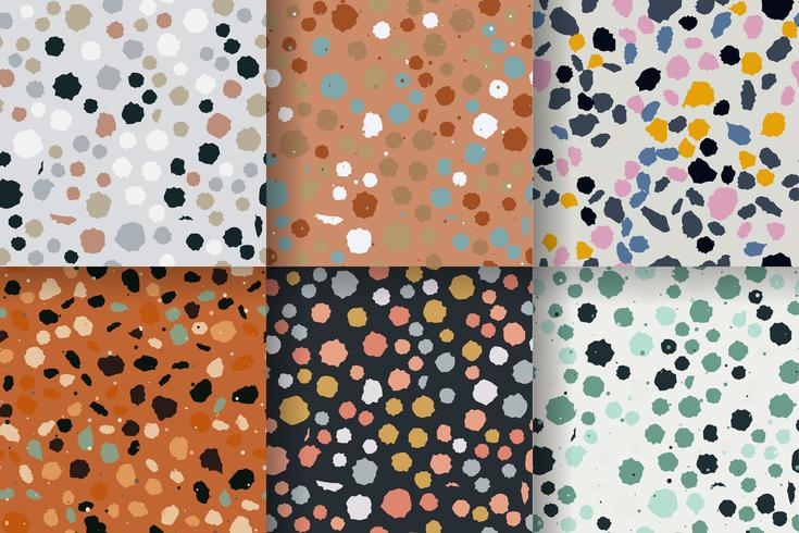 Seamless pattern di terracotta. Imitazione di un pavimento in pietra veneziana