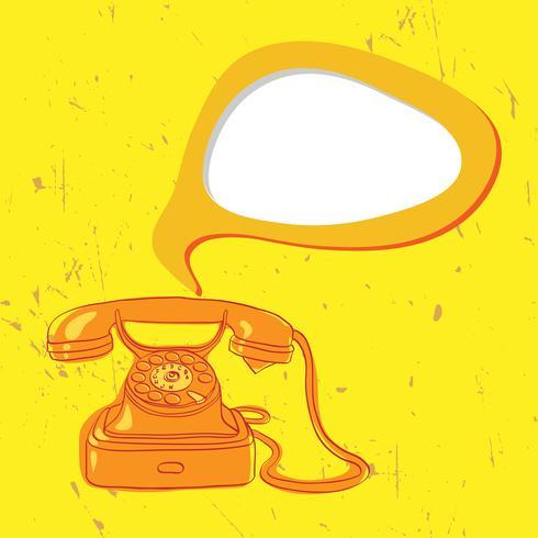 vintage orange telephone