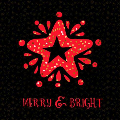 Glatt ljus julkort hälsningskort