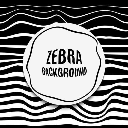 Gestreepte achtergrondglitch. Zwart witte zebrahuid. vector