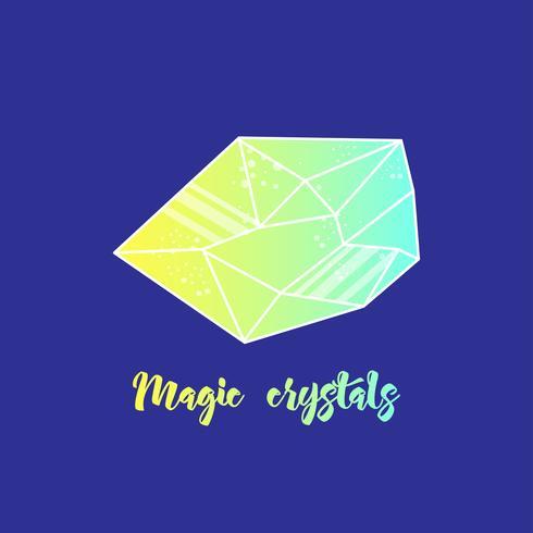 Magische kristallen van piramidale vorm.