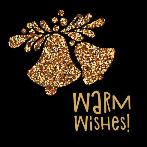 Deseos cálidos de banner de navidad
