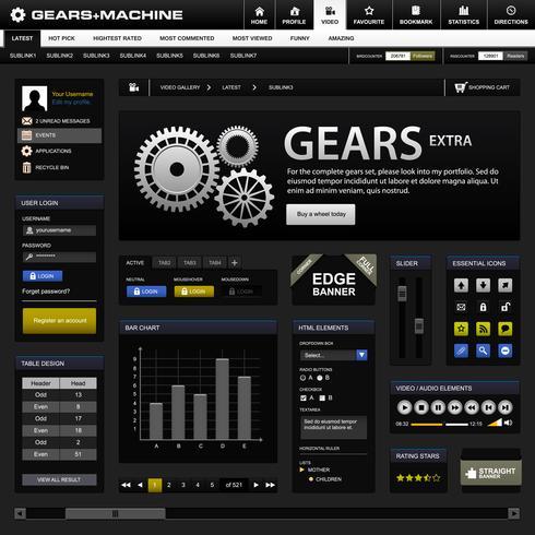 Web Design Element Template.  vector