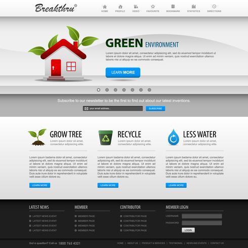 Modelo de elemento de site Web Design. vetor
