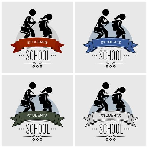 Back to school logo design.  vector
