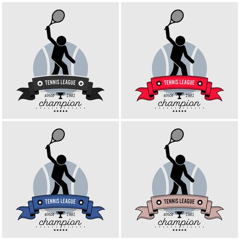 Tennis league logo ontwerp.