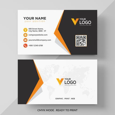 Orange elegant corporate business card design