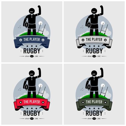 Rugby club logo design.  vector