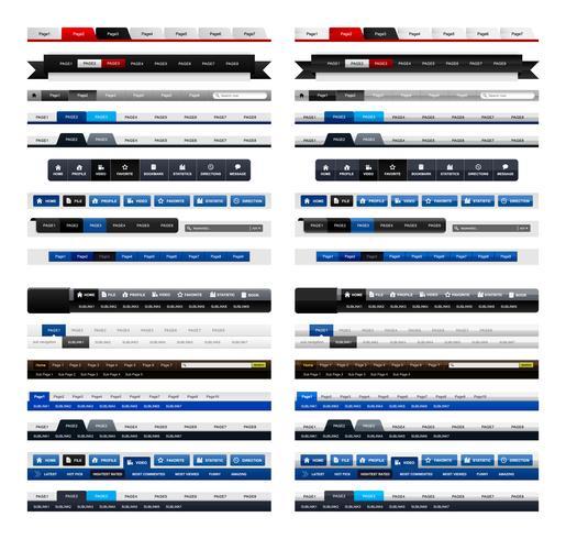 Web Design Menu Navigation Header.