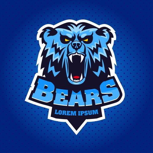 björnhuvud mascot emblem