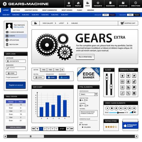 Plantilla de elemento de diseño web. vector