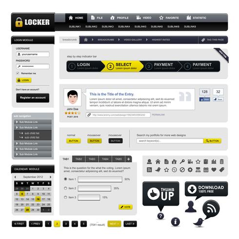 Webdesign-Website-Element-Vektor.
