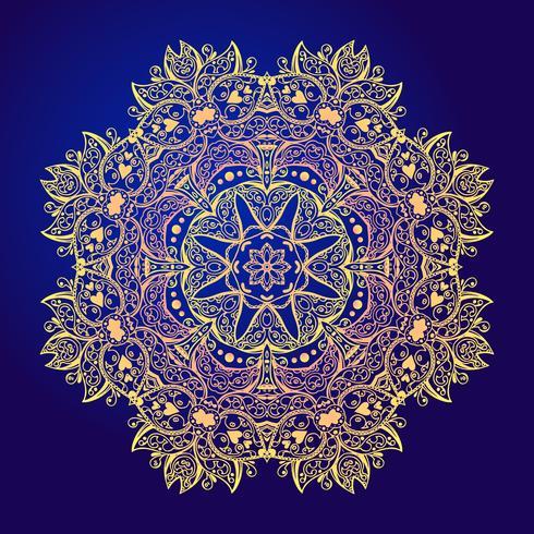 Mandala Floral vintage amuleto redondo tatoo