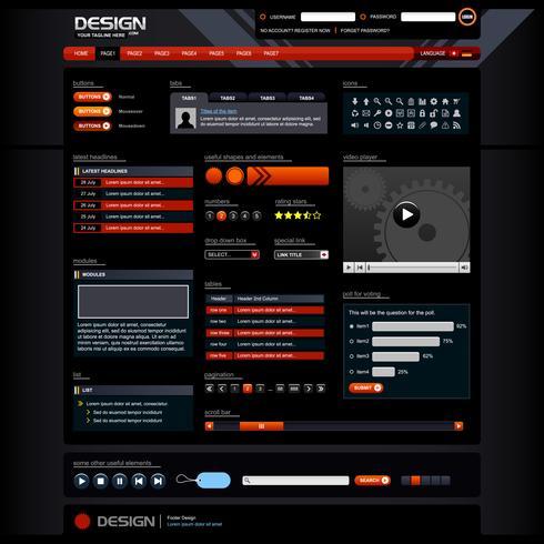 Modèle d'élément de conception Web. vecteur