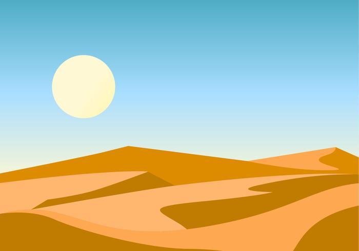 Unieke woestijn vector