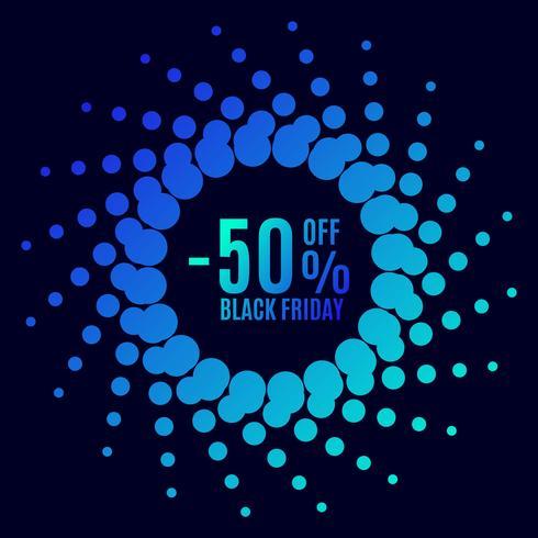Black Friday sale. Halftone dots vector