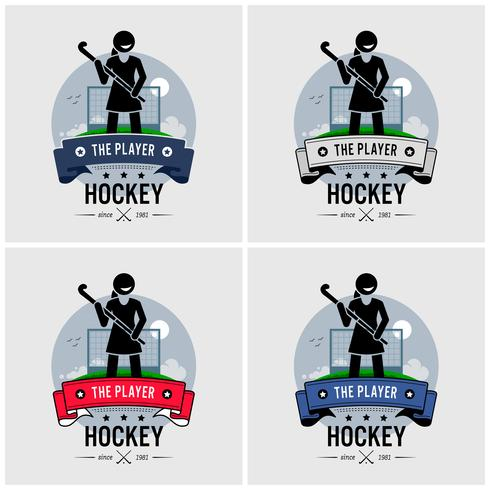 Design de logotipo de clube de hóquei.