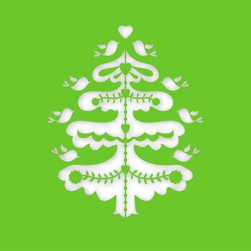 Weihnachtsbaum. Laserschneideschablone