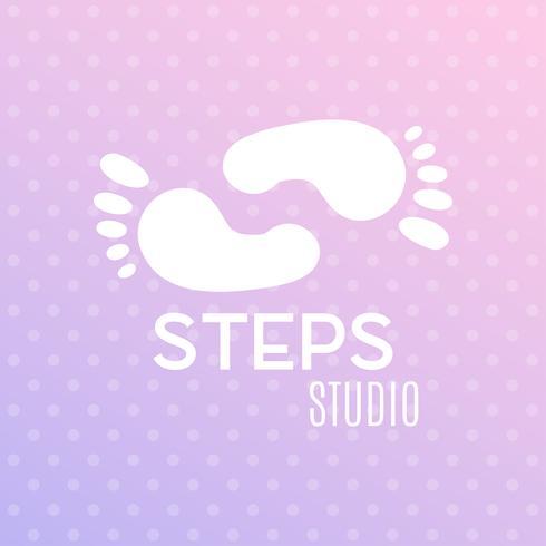 Icono de signo de huella humana. Símbolo de los pies descalzos. Silueta del pie vector