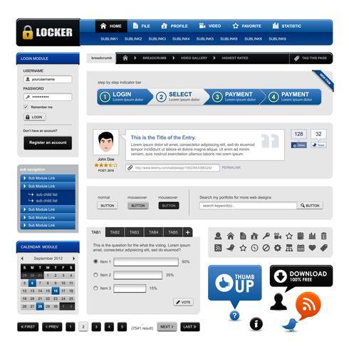 Web Design site elemento vetor. vetor