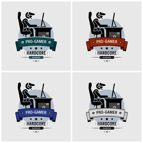 Design del logo Pro gamer.