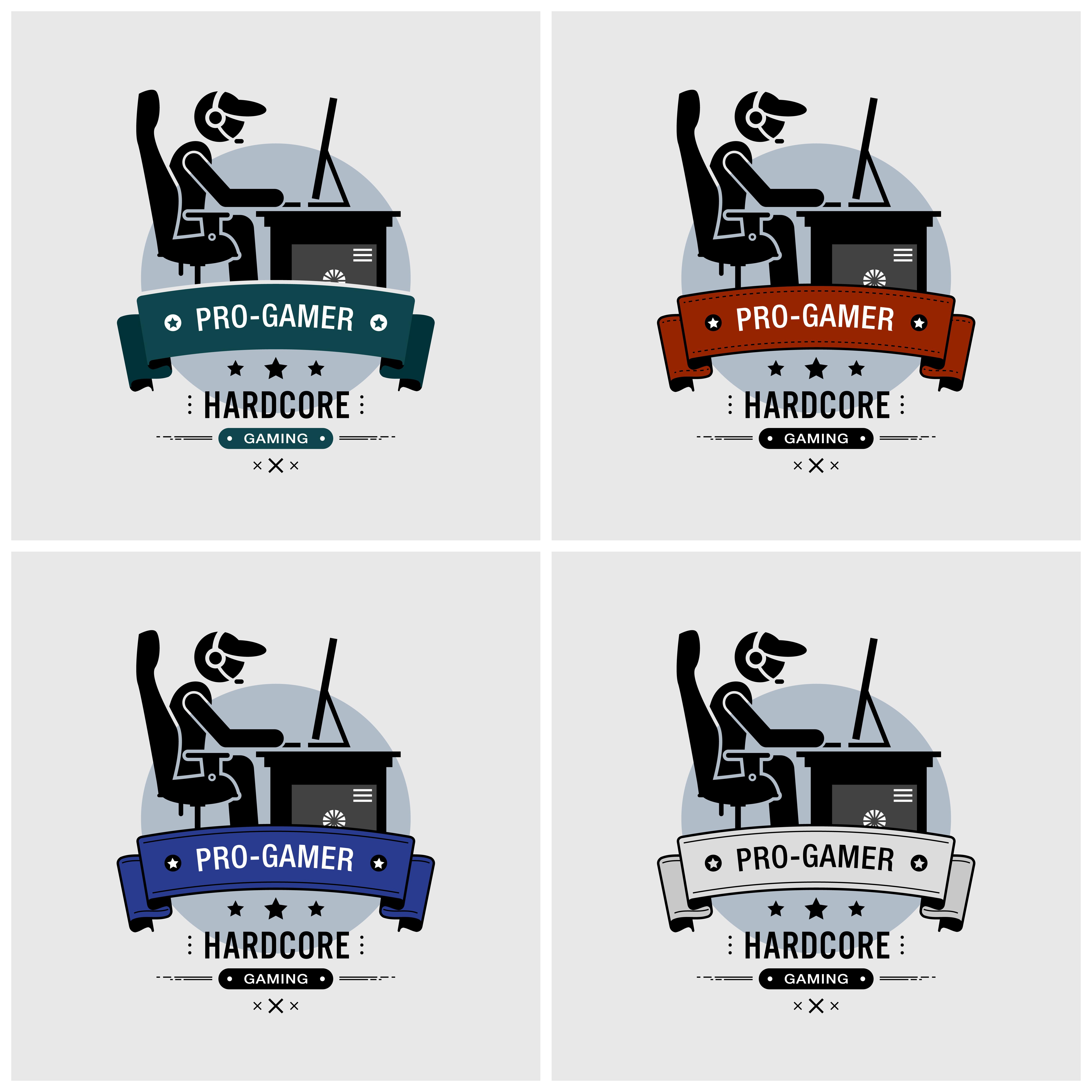Pro gamer logo design. - Download Free Vectors, Clipart Graphics & Vector Art