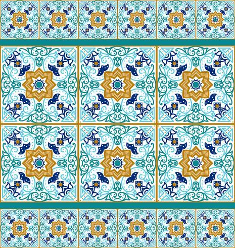 Tessera Talavera Vibrante modello senza cuciture messicano,