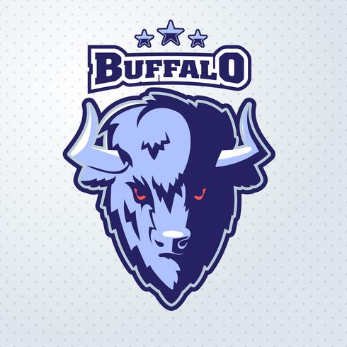 Buffalo Head mascotte vector