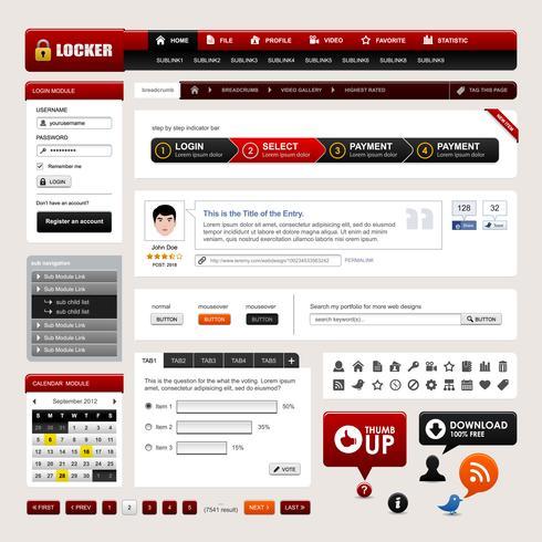 Web Design Website Element Vector.