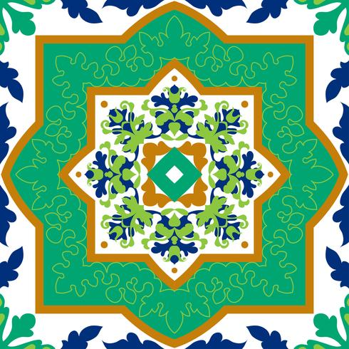 Spanische klassische Keramikfliesen. Nahtlose Muster