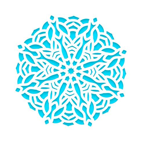 Template snowflakes laser cut and engraved. vector