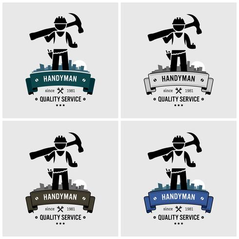 Professioneller Heimwerker Logo Design.