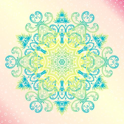Mandala Tulora de amuleto redonda vintage floral vetor