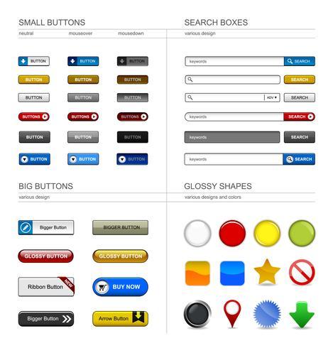 Elemento del pulsante Web Design.