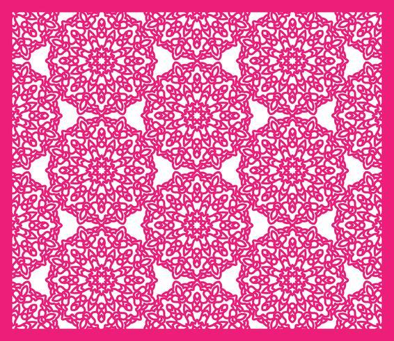 Vierkant patroonpaneel voor lasersnijden met mandala's.
