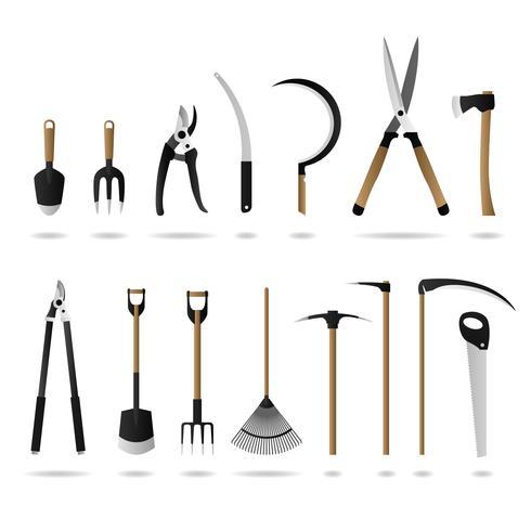 Conjunto de herramientas de jardinería. vector