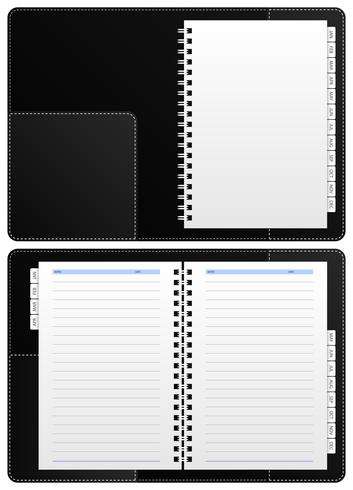 Diary Notebook, Ring Binder. vektor