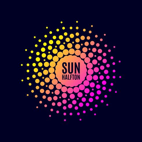 Plakat Sonne. Halbton vektor