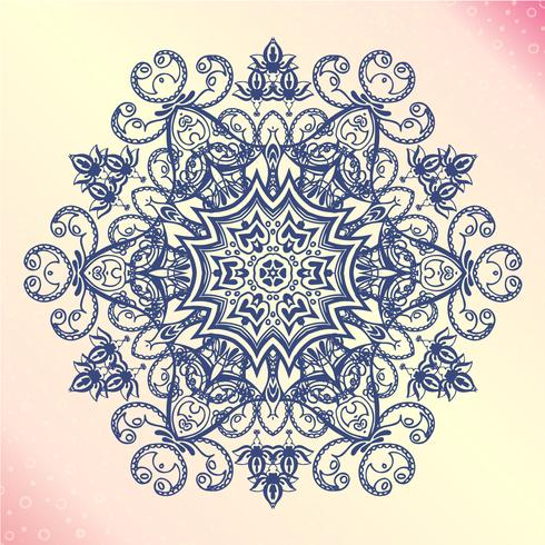 Mandala. Bloemen vintage ronde amulet tattoo vector